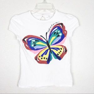 Kate Spade Girls Butterfly Sparkle Top